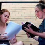 reading the script